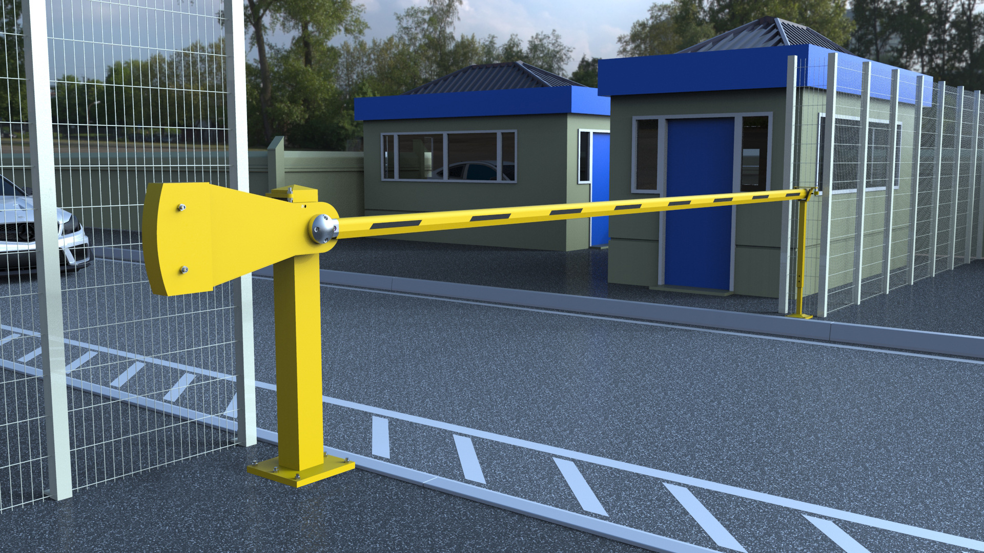 9m Manual Car Park Barrier Security Barriers